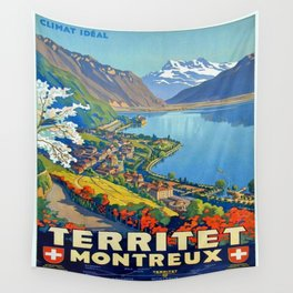 Vintage poster - Territet Montreaux Wall Tapestry