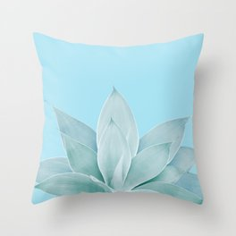 Light Blue Agave #1 #tropical #decor #art #society6 Throw Pillow