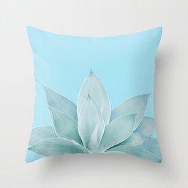 Light Blue Agave #1 #tropical #decor #art #society6 Throw Pillow