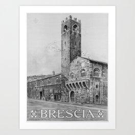 retro vintage ENIT Brescia poster Art Print