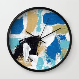 Abstract Expression #6 by Michael Moffa Wall Clock