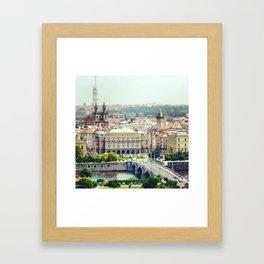 Prague De L'Autre Rive Framed Art Print