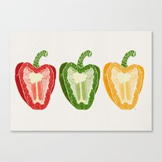 Mixed Peppers Canvas Print