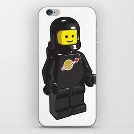 Vintage Black Spaceman Minifig iPhone Skin