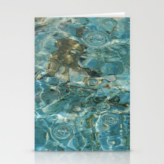 Water texture for iPhone Stationery Cards