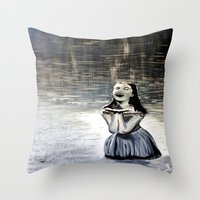 indigo Throw Pillows featuring Indigo by Terrel
