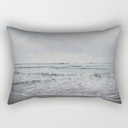 a stormy Pacific Ocean, Oceanside, California Rectangular Pillow