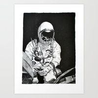 spaceman Art Prints featuring Spaceman by Bri Jacobs