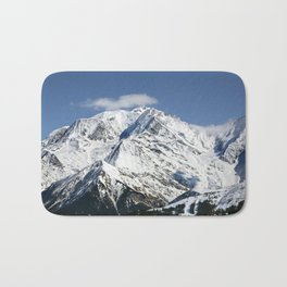 Mt. Blanc with clouds Bath Mat
