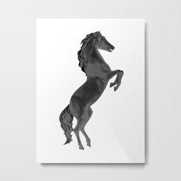 Black Horse II Metal Print