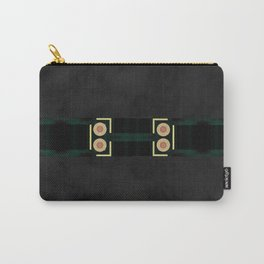Black Gold Green Marble Mandala Abstract Carry-All Pouch