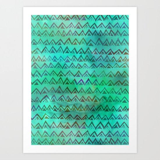 RHYTHM - MINT Art Print