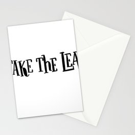 Take The Leap: white Stationery Cards