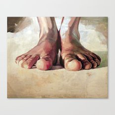 Pensando con los pies Canvas Print
