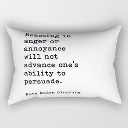 RBG, Reacting In Anger Or Annoyance Rectangular Pillow