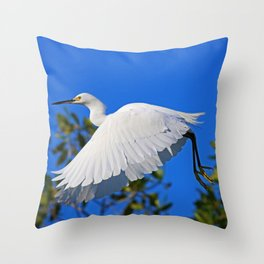 Following Her Moral Compass  Throw Pillow