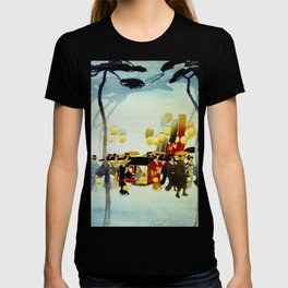 Japanese Covered Litter and Lanterns T-shirt