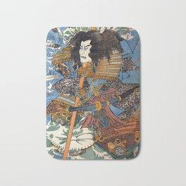 Utagawa Kuniyoshi Samurai Bath Mat