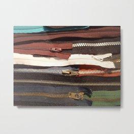 zipper en long Metal Print
