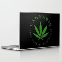 cannabis Laptop & iPad Skins featuring Cannabis by PsychoBudgie