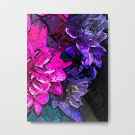 The Pink and Purple Flowers 1 Metal Print