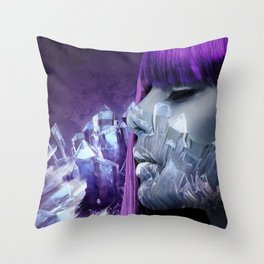 Icy Grape Throw Pillow