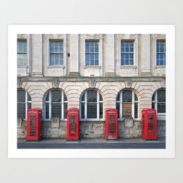 Old Red Telephone boxes Art Print
