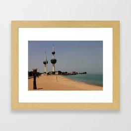 Kuwait Towers Framed Art Print