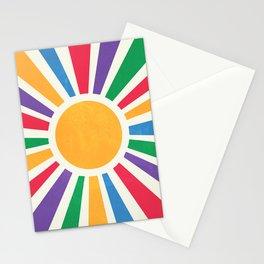 Retro Sunrise 2: 80s Rainbow Edition Stationery Cards