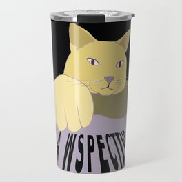 Pawspective Cat Art in Perspective Travel Mug