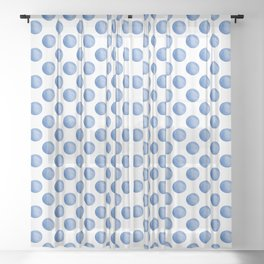 Waterdrop Pattern #2 Sheer Curtain