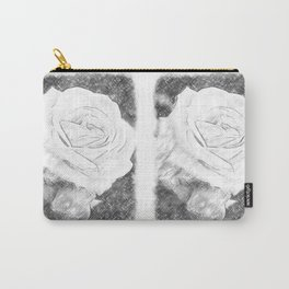Pink Roses in Anzures 2 Charcoal Carry-All Pouch