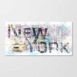 Urban Art NEW YORK CITY Canvas Print