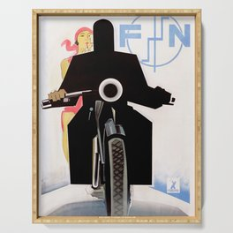 Vintage French Motorcycle Poster - FN (Fabrique Nationale). 1925 Serving Tray