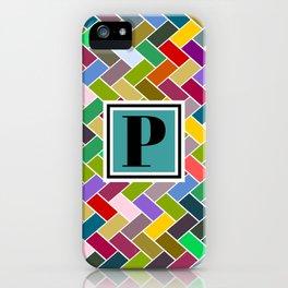 P Monogram iPhone Case