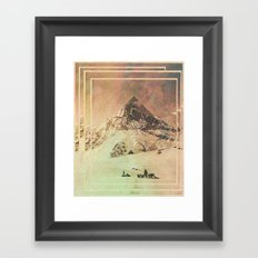 Wild Valley Mountian Framed Art Print