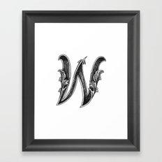 Leaf Script W Framed Art Print