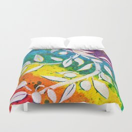 Leaves on the World Tree: The Albanian Olive Duvet Cover
