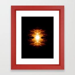 Fiery Menace Framed Art Print
