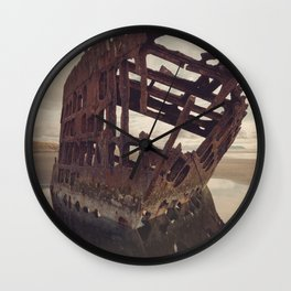 Shipwrecked - The Peter Iredale Wall Clock