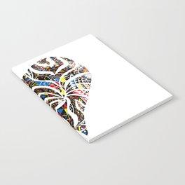 pattern heart Notebook