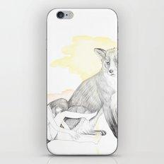 girl and fox iPhone & iPod Skin