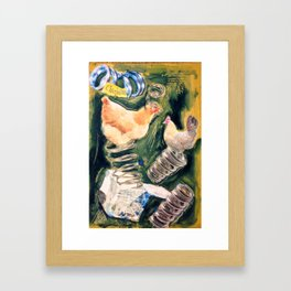 Spring Chickens Framed Art Print