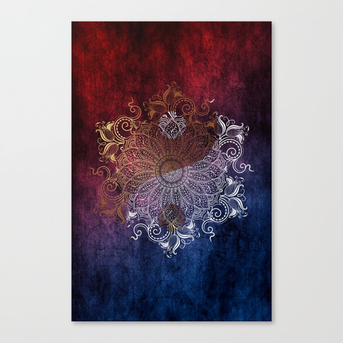 Mandala - Fire & Ice, yang version Canvas Print