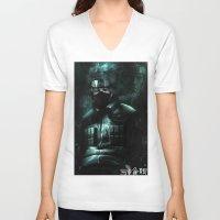 kakashi V-neck T-shirts featuring Kakashi of the sharingan  by Shibuz4