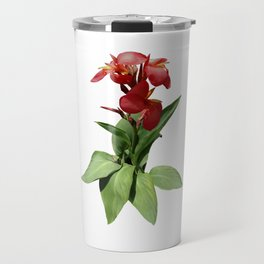 Red Canna Lily Travel Mug