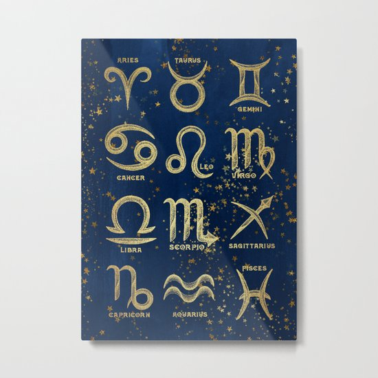The 12 Zodiac Signs Metal Print