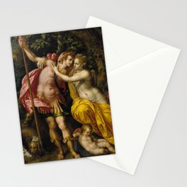 Hendrick De Clerck Venus And Adonis Painting Stationery Cards