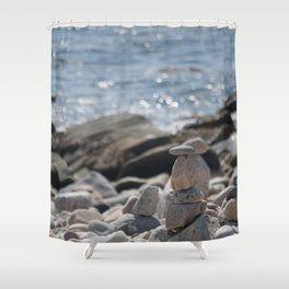 Balancing Serenity Rocks Shower Curtain