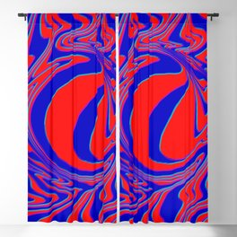 thrust, red and blue Blackout Curtain